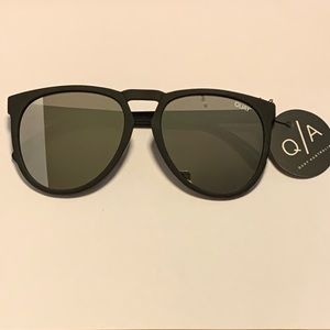 Quay PHD Black and Silver Sunglasses